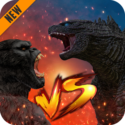 Godzilla & Kong 2021: Angry Monster Fighting Games  4 (Unlimited money,Mod) for Android