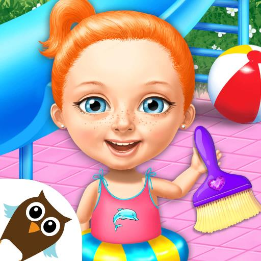 Sweet Baby Girl Cleanup 4 – House, Pool & Stable  (Unlimited money,Mod) for Android