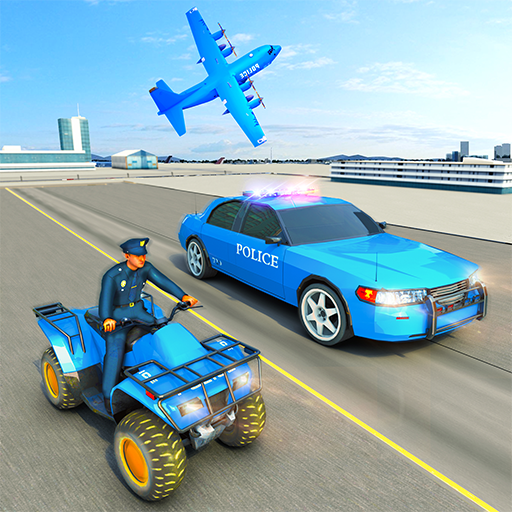 USA Police Car Transporter Games: Airplane Games  (Unlimited money,Mod) for Android