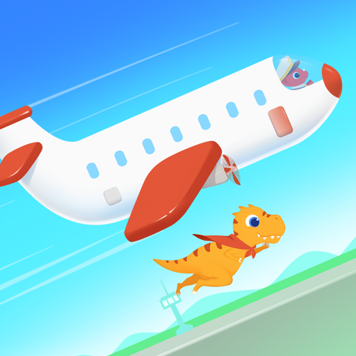 Dinosaur Airport – Flight simulator Games for kids  (Unlimited money,Mod) for Android