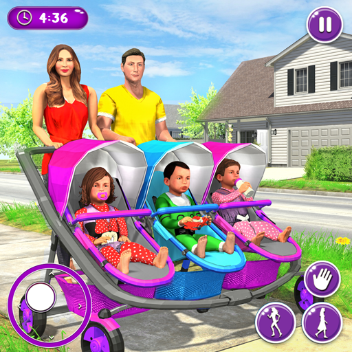 New Mother Baby Triplets Family Simulator  (Unlimited money,Mod) for Android