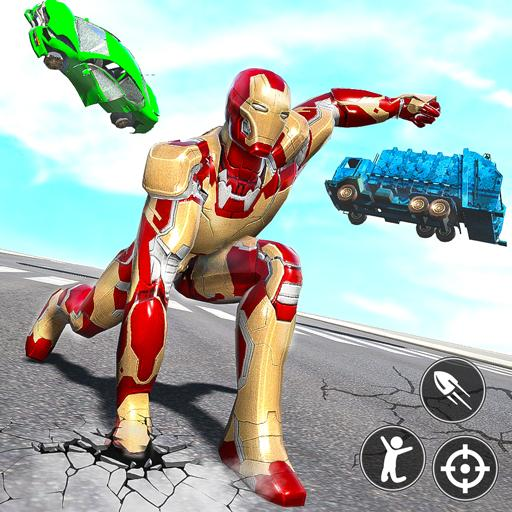 Iron Superhero War: Iron Robot Rescue Mission 2020  (Unlimited money,Mod) for Android