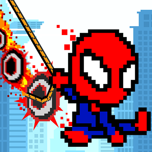 Rope Pixel Master – Rescue Hero Academy  (Unlimited money,Mod) for Android