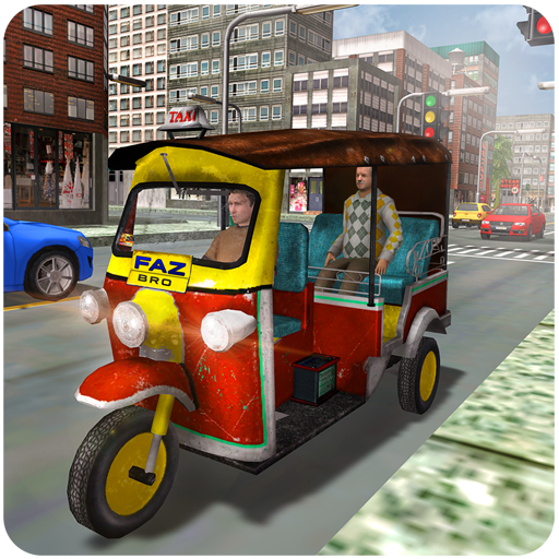 Tourist Transport Taxi: Tuk Tuk Driving Simulator  (Unlimited money,Mod) for Android