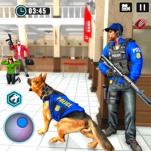 US Police Dog Bank Robbery Crime Shooting Game  (Unlimited money,Mod) for Android