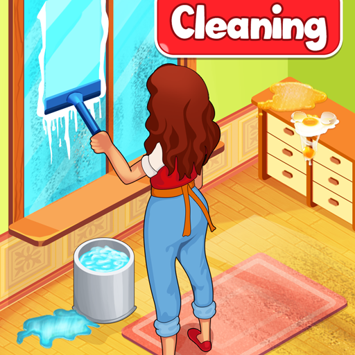 Big Home Cleanup and Wash : House Cleaning Game  (Unlimited money,Mod) for Android