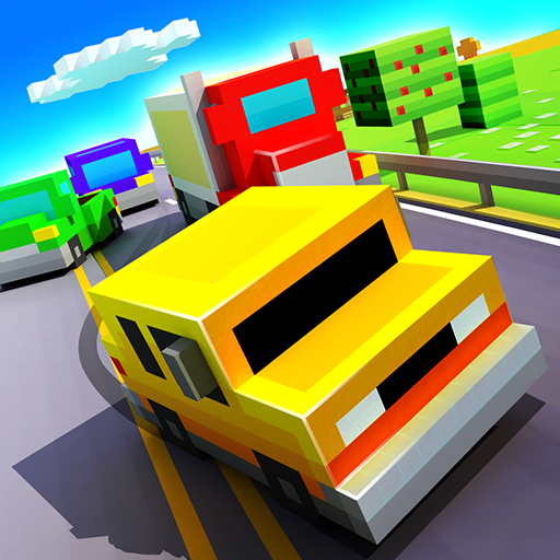 Blocky Highway: Traffic Racing  (Unlimited money,Mod) for Android