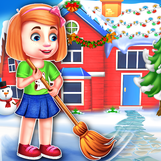 Christmas House Cleaning Game  (Unlimited money,Mod) for Android