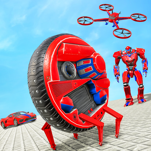 Drone Robot Car Driving – Spider Wheel Robot Game  (Unlimited money,Mod) for Android