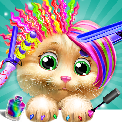 Pet Kitty Hair Salon Hairstyle Makeover  (Unlimited money,Mod) for Android