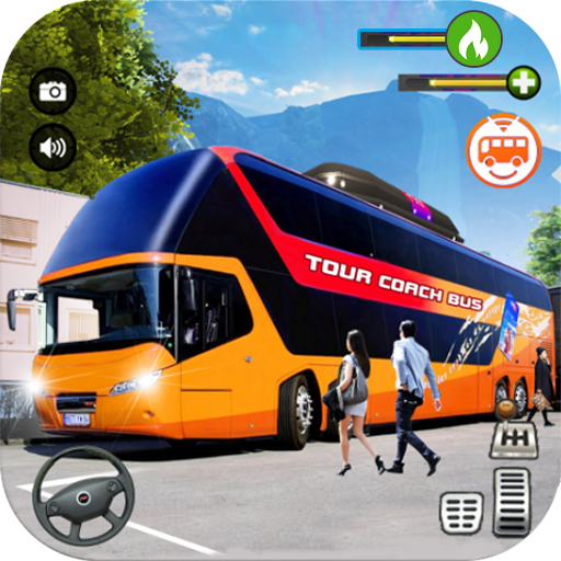 Tourist Coach Bus Highway Driving  (Unlimited money,Mod) for Android