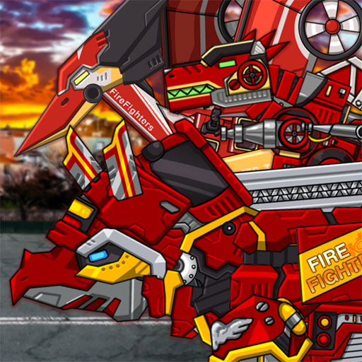 Triceratops – Combine! Dino Robot Fire Truck Squad  (Unlimited money,Mod) for Android