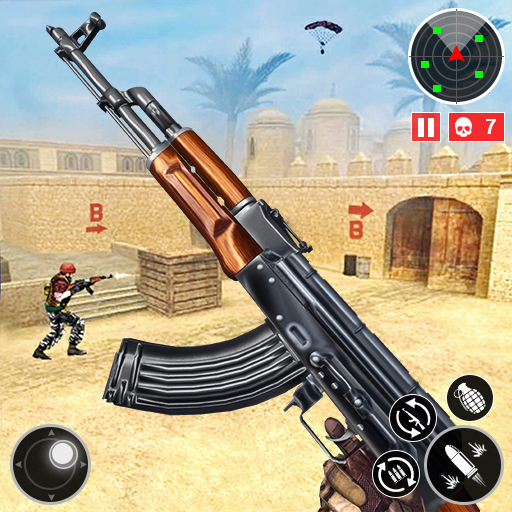 Army Shooting Games 2021-FPS Multiplayer Gun Games  (Unlimited money,Mod) for Android