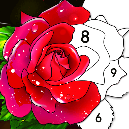 Color by Number Oil Painting Coloring Book  1.801 (Unlimited money,Mod) for Android