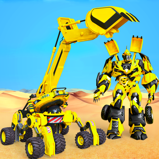Grand Sand Excavator Robot Transform Robot Games  (Unlimited money,Mod) for Android