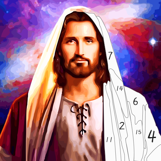 Jesus Coloring Book, Color by Number Paint Games  2.5 (Unlimited money,Mod) for Android
