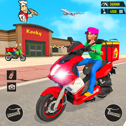 Pizza Delivery: Boy & Girl Bike Game  (Unlimited money,Mod) for Android