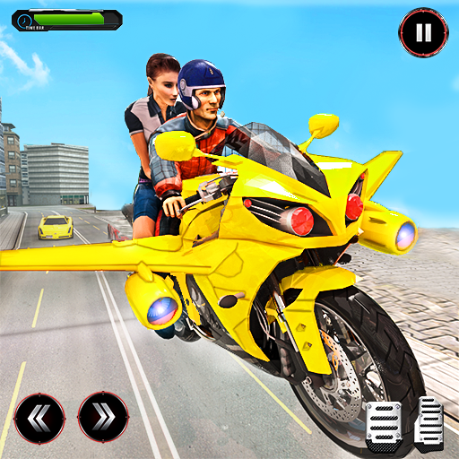 Real Flying Bike Taxi Sim 2021  (Unlimited money,Mod) for Android