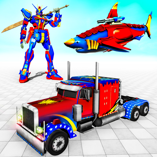 Real Shark Robot Car Game – Police Truck Robot  (Unlimited money,Mod) for Android