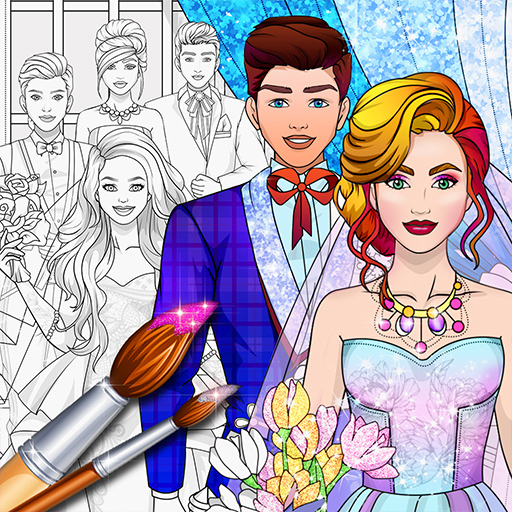 Wedding Coloring Dress Up – Games for Girls  1.4 (Unlimited money,Mod) for Android