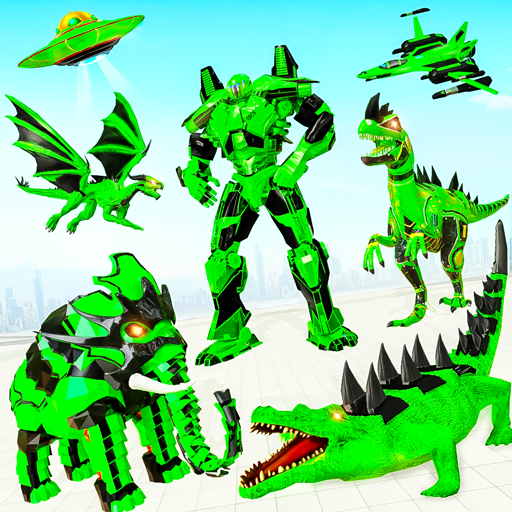 Crocodile Robot Car Transforming Mega Robot Games  (Unlimited money,Mod) for Android