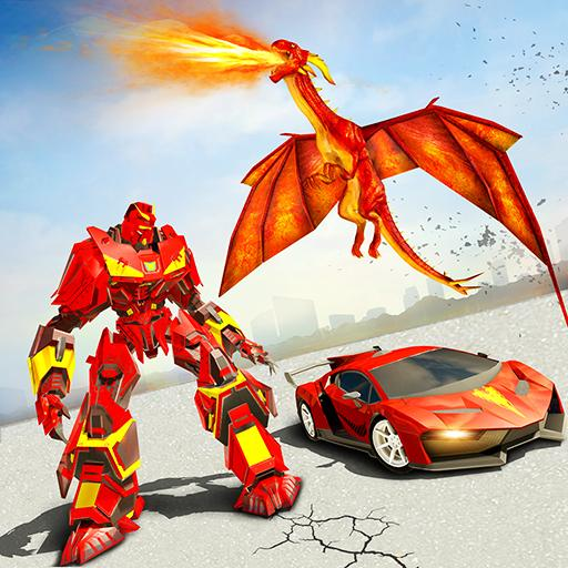 Dragon Robot Transforming Car  (Unlimited money,Mod) for Android