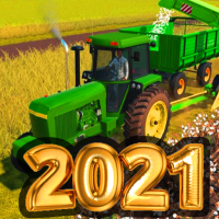 Village Tractor Drive 2021-Farm Offroad Sim Games  (Unlimited money,Mod) for Android